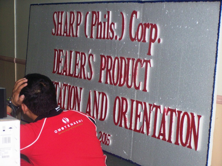 Sharp Phil Corp Dealer Product Orientation July 7, 2015  event picture at Linmarr Davao Hotels and Apartelles. It's more FUN in the PHILIPPINES