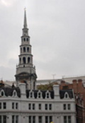 The famous spire of St. Bride's Church